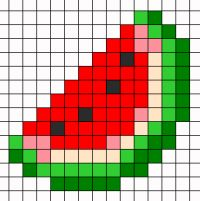 Tiny Cross Stitch, Cross Stitch Designs, Cross Stitch Patterns, Pixel Art Templates, Perler Bead Templates, Motifs Perler, Perler Patterns, Pixel Pattern, Pattern Art