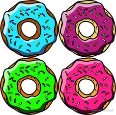 Donuts Make Me Go Nuts!! All Over Donut Print!