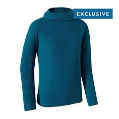 PATAGONIA MEN'S MERINO AIR® HOODY | $149  We use a unique lofted yarn technology to give this seamless Merino baselayer exceptional warmth, stretch and breathability. Made from a blend of wool sustainably sourced from the grasslands of Patagonia and blended with Capilene® fibers for improved wicking, durability and dry times
