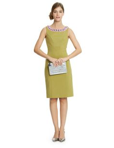 Beaded Ponte Dress WH776 Cocktail at Boden