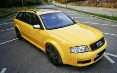 Audi RS6 C5 Avant in rare Imola Gelb