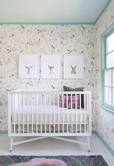 Soft, sweet, & lovely floral woodland nursery.