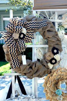 Gorgous burlap wreath - Cameo Cottage Designs: 2013 Spring Fancy Flea Market - Lakeland, Florida Photos Part Two