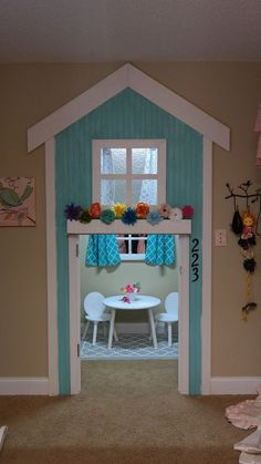 20 Indoor Playhouse Ideas Creating a Whole Little World for Your Kiddos #diyindoorplayhouse #buildplayhouse #buildachildrensplayhouse #playhouseideas #indoorplayhouseideas