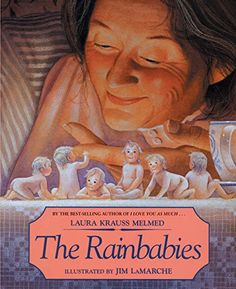 The Rainbabies by Laura Krauss Melmed. I chose this high fantasy story with motifs of magic, heroism, special character types, and fantastic objects. From the themes in story children can learn love, bravery, and that family isn't always dictated by birth. The realistically rendered illustrations mirror the text. I would read this book to 4-5 year old children.