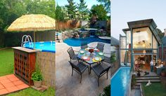20 Amazing Small Bakcyard Designs  with Pools - http://www.amazinginteriordesign.com/20-amazing-small-bakcyard-designs-with-pools/