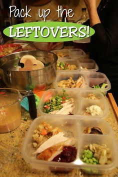 Dinner leftovers make easy lunches for tomorrow.