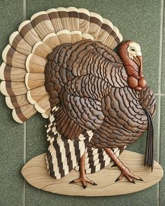 The Very Best, Most Comprehensive List Of Tips About Woodworking You'll Find Intarsia Wood Patterns, Wood Craft Patterns, Wood Burning Patterns, Wood Mosaic, Mosaic Art, Intarsia Woodworking, Woodworking Projects, Turkey Drawing, Carving A Turkey