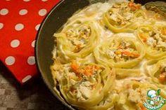 «Гнезда» с креветками в сливочном соусе - кулинарный рецепт