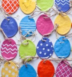 DIY salt dough easter eggs // Só-liszt gyurma húsvéti tojások - díszek // Mindy - craft tutorial collection