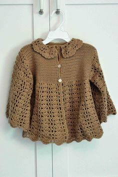 Up-sized version of a baby jacket that appeared in the Spring/Summer 2007 edition of Family Circle magazine.