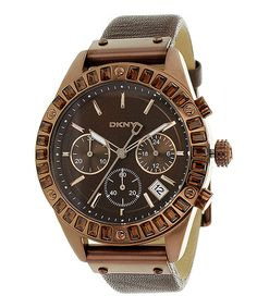 DKNY Brown Classic Chronograph Watch - Women on zulily today!