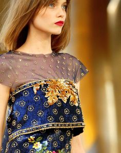 Royal blue + gold.