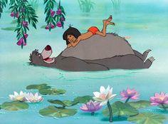 Jungle Book's Mowgli and Baloo via www.Facebook.com/Disney