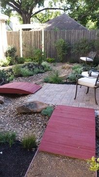 small backyard with putting green