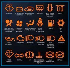 The Meaning Behind Your Car Dashboard Warning Lights. Just get the first car of your life? Do you really know the meaning of those dashboard warning lights? Here're some funny definitions. Land Cruiser 200, Toyota Land Cruiser, Symbol Auto, You Are Idiot, Vw Pointer, Jetta A4, Car Door Opener, Car Symbols, Life Hacks