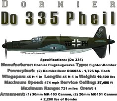 WARBIRDSHIRTS.COM presents German Warbirds, available on Polos, Caps, T-shirts, Sweatshirts and more. featuring here in our Germany collection the Do 335 Pheil