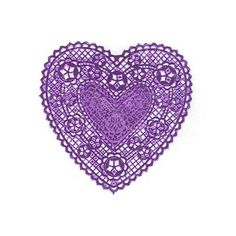 "Purple Foil Heart Doilies, 6"" found on Polyvore"