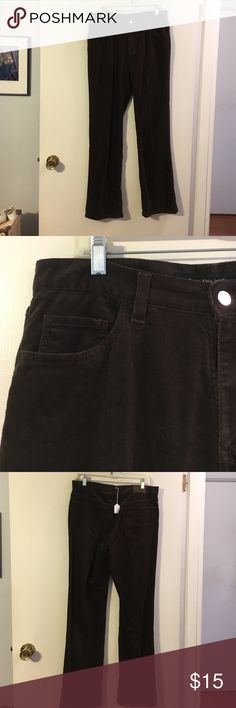 Calvin Klein dark brown baby wale corduroy pants Classic 5 pocket styling. Bootcut. Cotton with a touch of spandex Calvin Klein Jeans Pants Boot Cut & Flare