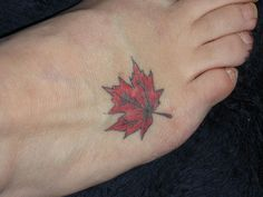 Red Leaf Tattoo. My favorite season is fall. I just love the beautiful leaves!
