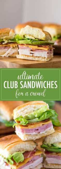 Ultimate Club Sandwiches - - 20 Best Croissant Sandwich Recipes Enjoy these 20 best yummy croissant sandwich recipes.Delicious sandwiches held together with a light, flaky croissant.I guess delicious is an understatement Croissant Sandwich, Club Sandwich Receta, Sandwich Sous-marin, Roast Beef Sandwich, Club Sandwich Recipes, Picnic Recipes, Brunch Recipes, Crowd Recipes, Sandwich Spread