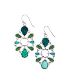 Look at this #zulilyfind! Green Turquoise & Green Onyx Drop Earrings #zulilyfinds