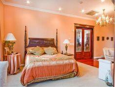 peach bathroom | ... peach mousse, peach bedroom2, view of bed, closet doors from bathroom