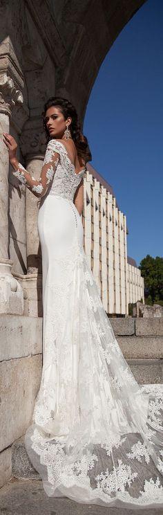 Milla Nova 2016 long sleeves wedding dresses / http://www.himisspuff.com/long-sleeve-wedding-dresses/13/