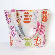 Small 'cat' tote bag