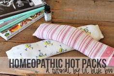 homeopathic / aromatherapy DIY hot compresses