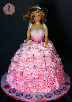 Doll princess cake.