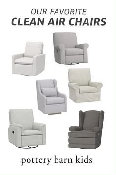Built to be used anywhere in your home, our convertible nursery chairs help contribute to cleaner air in your space.