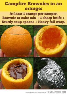 Campfire Brownies in an orange…