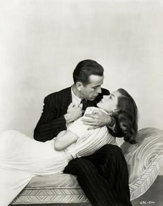 Humphrey Bogart and Lauren Bacall.