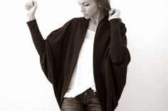 Trash To Couture: DIY Batwing Cardigan