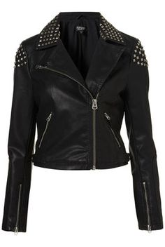 can I just have this already please!!! <3 Studded Biker Jacket I love everythinggg that Topshop has but none of it actually comes big enough :/ :(