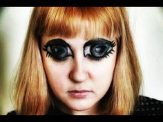 How to Paint GIANT EYES on Your Face
