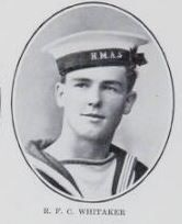 WHITAKER   Reginald   Francis   Coats,   Stoker   Ist   Class,   No.   6075.   Born   and   educated   at  Maryborough.   The   son   of   Charles   and   Mary.