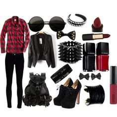 """Punk Rock Chic"" by nthsyngie on Polyvore"