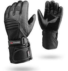Winter Leather Motorbike Gloves Reflective Motorcycle Waterproof Padded | eBay