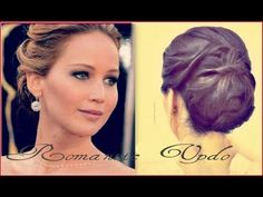 ★ JENNIFER LAWRENCE HAIR TUTORIAL | FORMAL UPDO CHIGNON BUN FOR LONG HAIR |PROM WEDDING HAIRSTYLES - YouTube