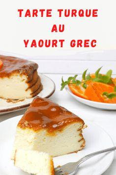 The Turkish yogurt pie looks like a cheesecake, but without cold . Yogurt Pie, Greek Yogurt, Turkish Yogurt, Friend Recipe, Peach Jam, Cake Factory, Exotic Food, Cakes And More, Deli