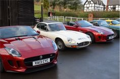 A pair of Jaguar F Types. Photo Credit: Mark Constanduros