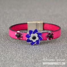 Sizzix Tutorial   DIY Floral Leather Bracelet by Adrianne Surian