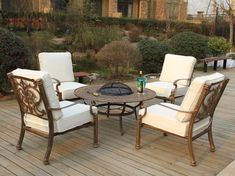 Best 30+ Patio Furniture With Fire Pit and Chairs #PatioFurniture #FirePit