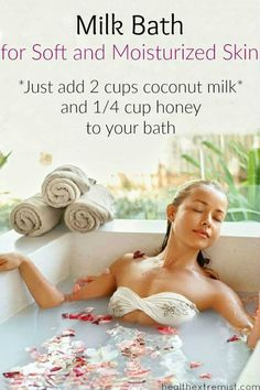 How to Make a Milk Bath for Soft and Moisturized Skin - Milk baths always help reduce any skin irritation or redness too!