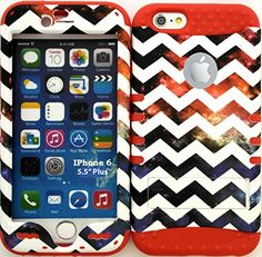 "myLife Stylish Design and Layered Protection Case for iPhone 6 Plus (5.5"" Inch) by Apple {Fruit Punch Red ""Colorful Chevron Nebula Finish"" Three Piece SECURE-Fit Rubberized Gel} myLife Brand Products http://www.amazon.com/dp/B00PBI5ICQ/ref=cm_sw_r_pi_dp_vp6yub048G6G3"