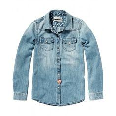 CAMICIA JEANS SCOTCH R'BELLE Camicia in jeans per bambina della Scotch R'Belle in denim con lavaggio vintage, chiusura frontale con bottoni in madreperla, una camicia in denim per tutte le occasioni che può essere indossata con ogni look. #scotchsoda #scotchrbelle #camicia #shirt #denim #jeans #western #bambina #bimba #ragazza #girl #child #children #teeneager #kids #junior #teen #shopping #negozionline #eshop #ecommerce #fashion #moda