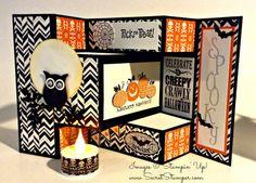Stampin' Up!, Halloween Tri-Fold, Halloween, Halloween Happiness, Best of Halloween, Mixed Medley, Halloween Bash, Notable Alphabet, Owl Builder Punch