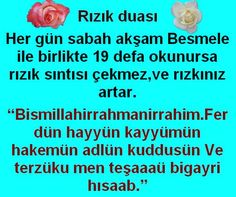 What are the Prayers of Rızık (Bereket) - Kurani Oku Allah Islam, My Prayer, Prayers, Faith, Words, Quotes, Marsala, Natural Health, Skincare
